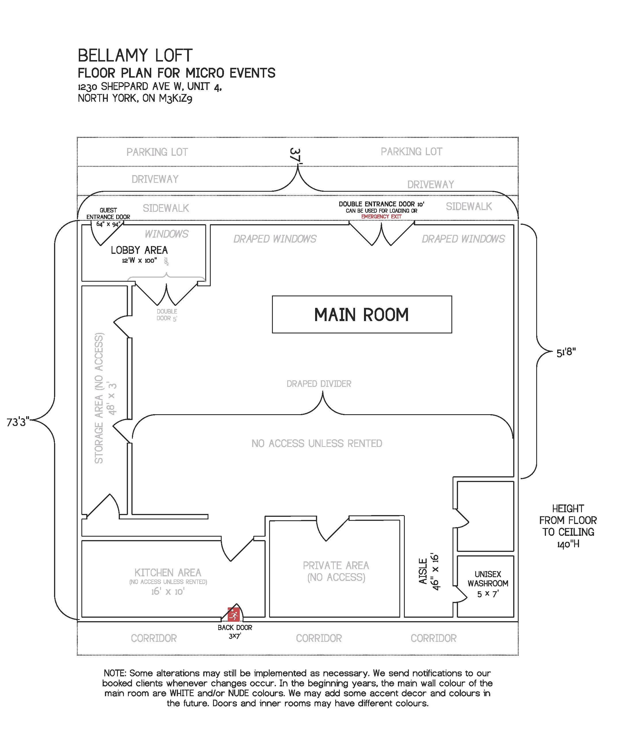Floor Plan Micro Events