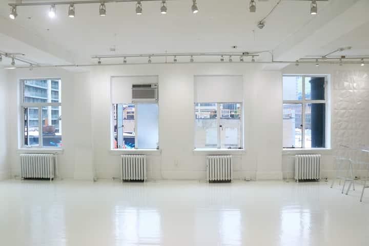 Modern Dundas Square Media Studio Venue (ALL WHITE)