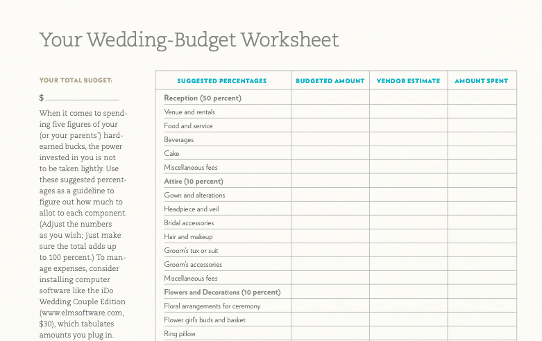 Real Simple Micro Wedding Planning Checklists and Templates